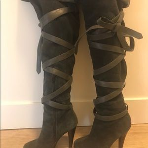 incredible prices buy good quality Colin Stuart Shoes | Thigh High Suede Wrap Up Boots | Poshmark